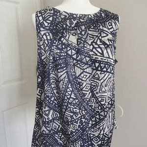Chaus sleeveless satin blouse